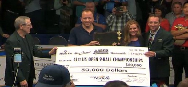 Congratulations to Shane Van Boening on his 5th US Open Title