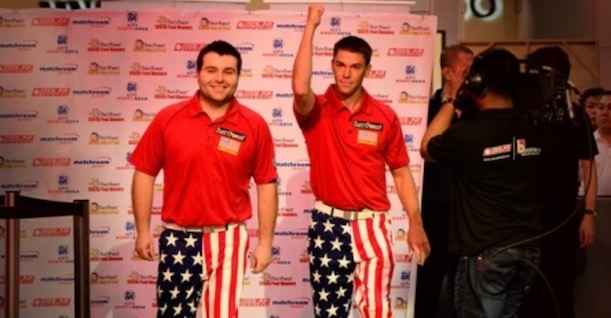 UPSET TRAIN ROLLS ON AT WORLD CUP OF POOL
