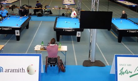 Wheelchair 9-ball World Championship 2017 Tampere, Finland – Day 1