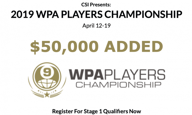 WPA Players Champs – Stage 1 Entry