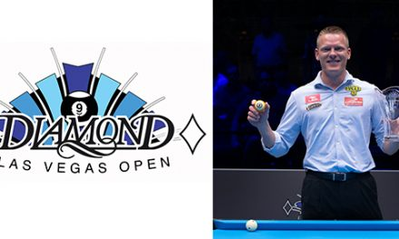 Congratulations to Niels 'The Terminator' Feijen for winning the Diamond Las Vegas 9-Ball Open!!