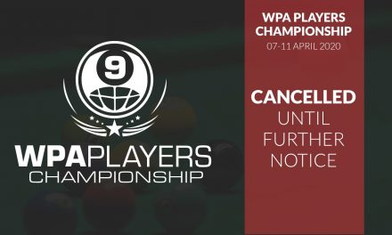 WPA Players Championship Cancelled