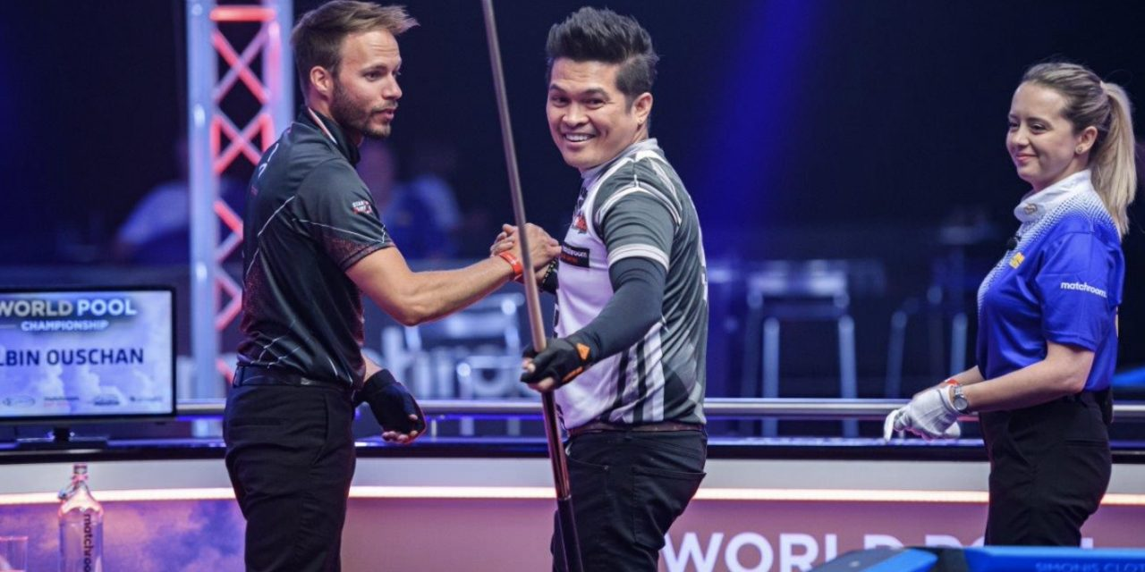 GOMEZ SURVIVES BRAVE OUSCHAN FIGHTBACK AT WORLD POOL CHAMPIONSHIP